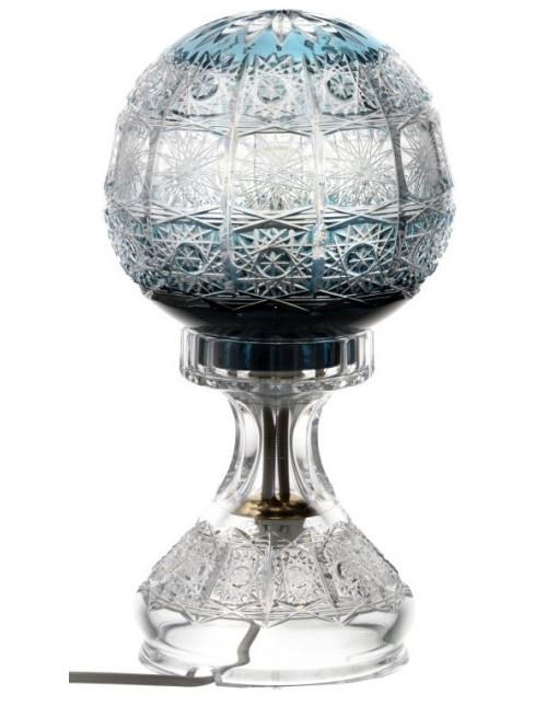 Lampada Paula, cristallo, colore azzurro, altezza 305 mm