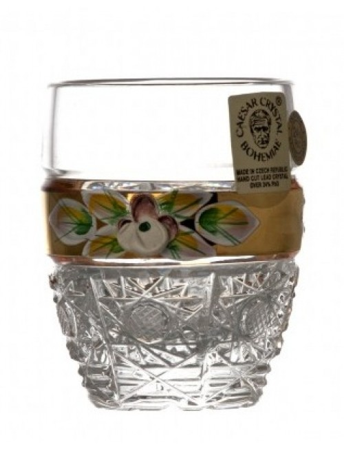 Bicchierino 500PK, cristallo trasparente dipinto oro I, volume 50 ml