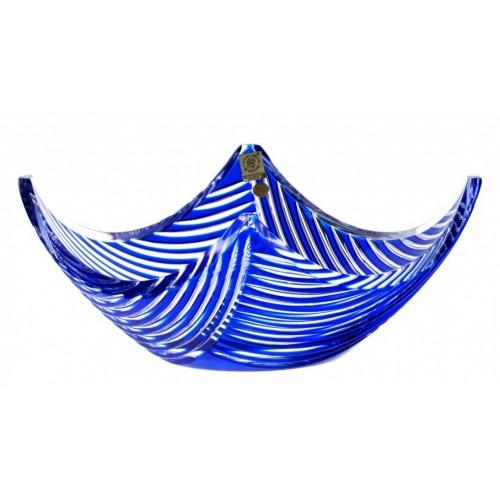 Insalatiera Linum, cristallo, colore blu, altezza 280 mm