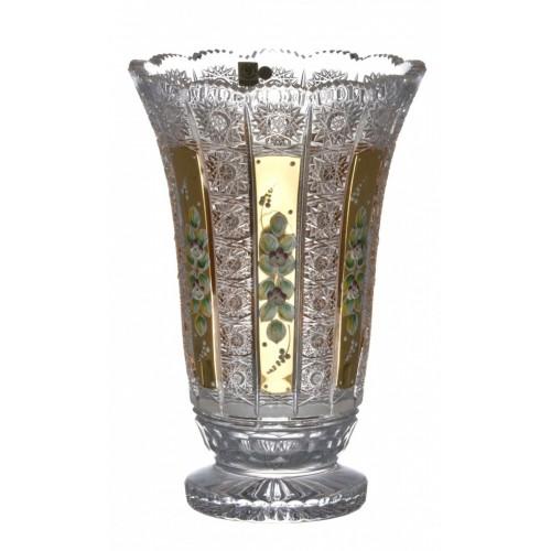 Vaso 500PK, cristallo trasparente dipinto oro I, altezza 305 mm