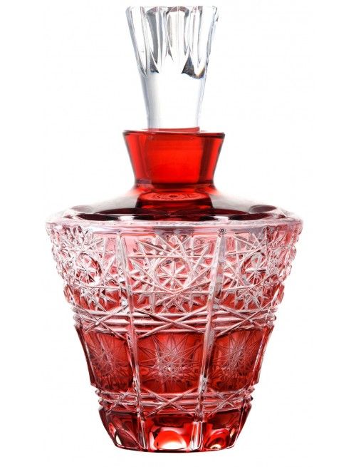 Flacone Paula, cristallo, colore rosso, volume 170 ml