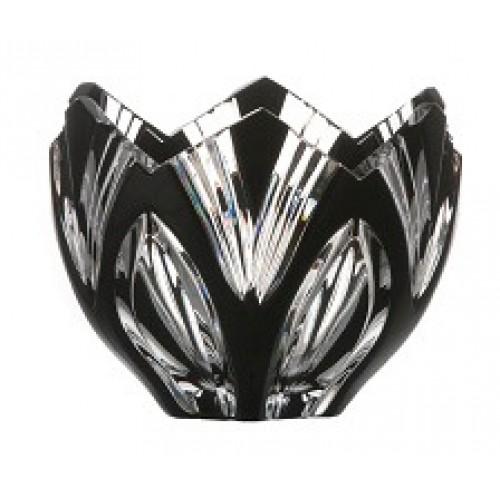 Ciotola Lotos, cristallo, colore nero, diametro 85 mm
