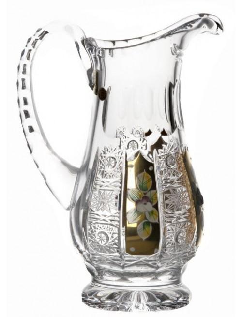 Brocca 500PK, cristallo trasparente dipinto oro, volume 550 ml