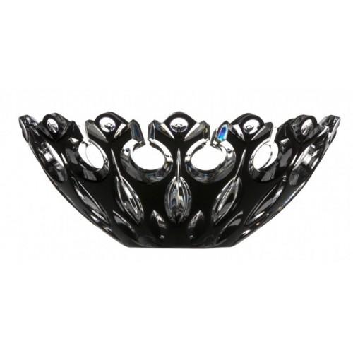 Insalatiera Flamenco, cristallo, colore nero, diametro 280 mm