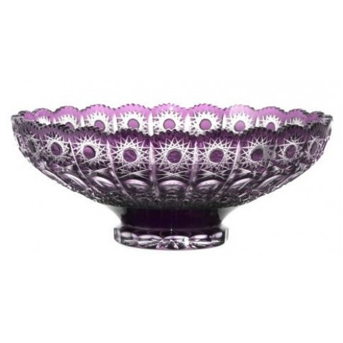 Insalatiera Petra, cristallo, colore viola, diametro 305 mm