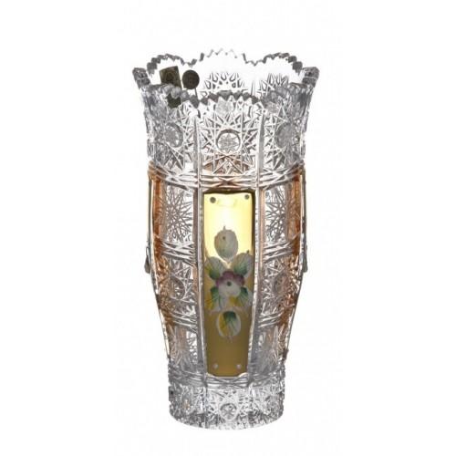 Vaso 500PK II, cristallo trasparente dipinto oro, altezza 180 mm
