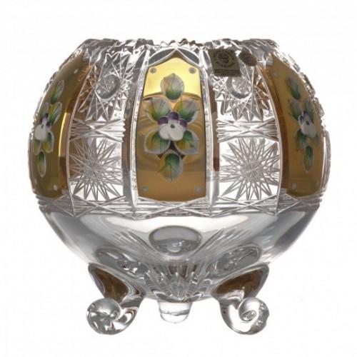 Vaso 500PK, cristallo trasparente dipinto oro I, altezza 150 mm
