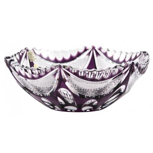 Insalatiera Ingrid, cristallo, colore viola, diametro 230 mm
