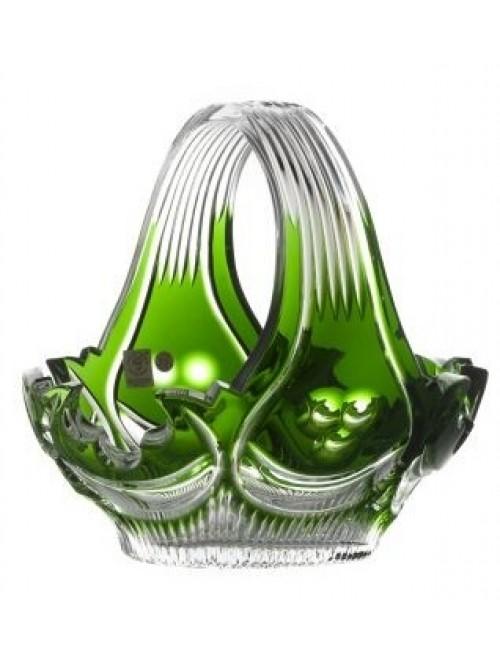 Cesto Diadem, cristallo, colore verde, diametro 230 mm