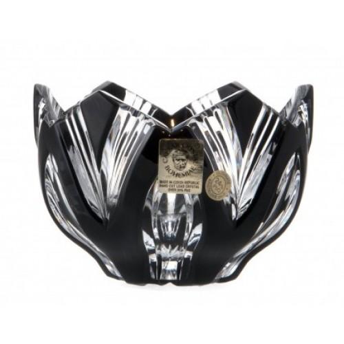 Ciotola Lotos, cristallo, colore nero, diametro 95 mm