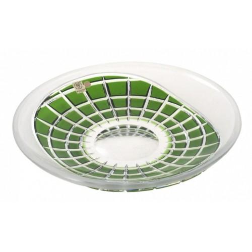 Piatto Neron, cristallo, colore verde, diametro 300 mm