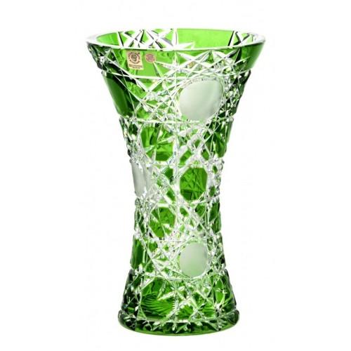 Vaso Flake, cristallo, colore verde, altezza 255 mm
