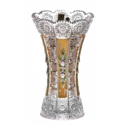 Vaso 500PK, cristallo trasparente dipinto oro, altezza 230 mm