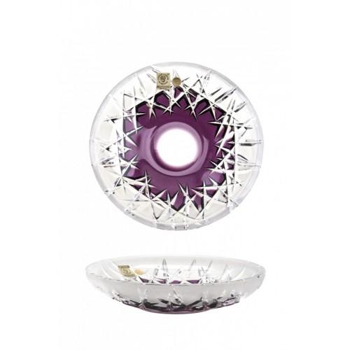 Piatto Hoarfrost, cristallo, colore viola, diametro 180 mm
