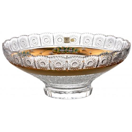 Insalatiera 500PK, cristallo trasparente dipinto oro, diametro 355 mm