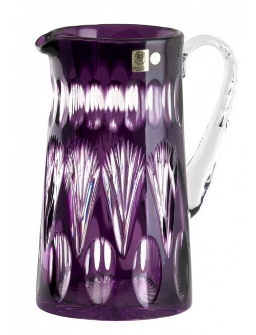Brocca Zora, cristallo, colore viola, volume 1450 ml