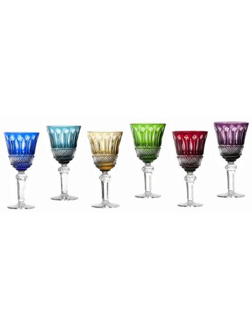 Set bicchieri Tomy 6x, cristallo, multicolore, volume 240 ml