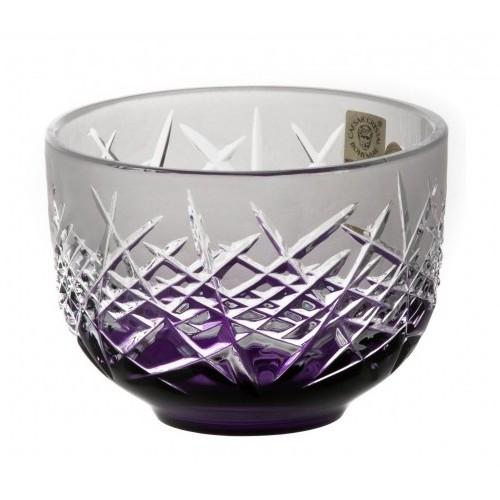 Ciotola Hoarfrost, cristallo, colore viola, diametro 110 mm