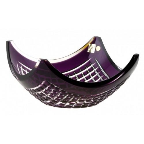 Insalatiera Quadrus, cristallo, colore viola, diametro 280 mm