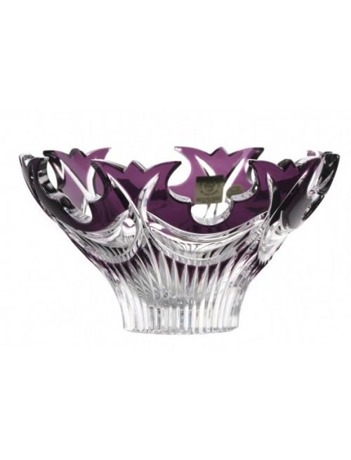 Insalatiera Diadem, cristallo, colore viola, diametro 165 mm