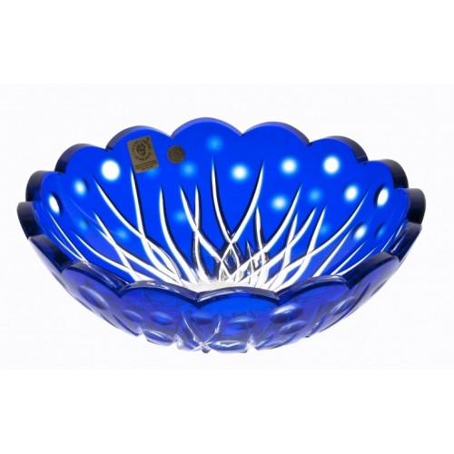 Insalatiera Heyday, cristallo, colore blu, diametro 205 mm