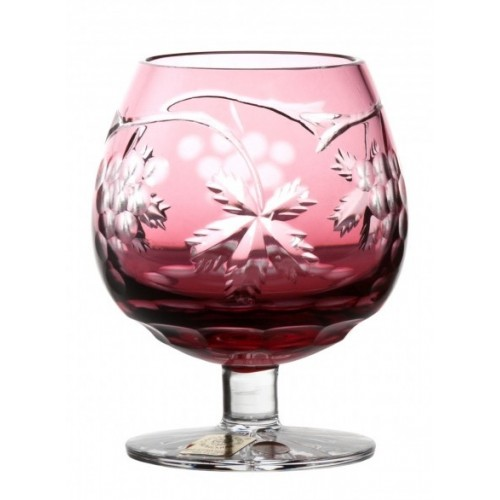 Bicchiere Brandy Grapes, cristallo, colore rosso, volume 230 ml