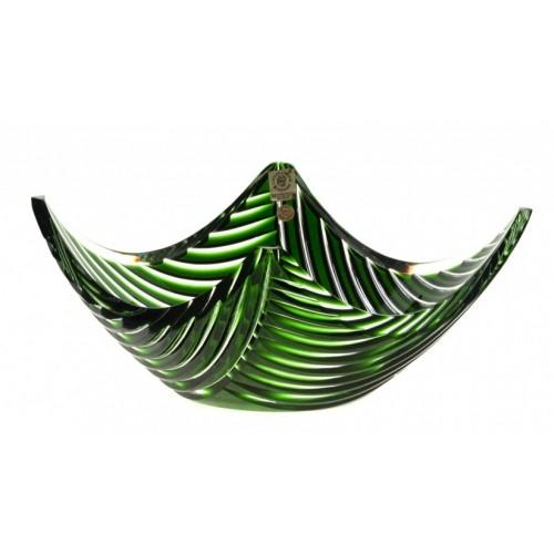 Insalatiera Linum, cristallo, colore verde, diametro 280 mm