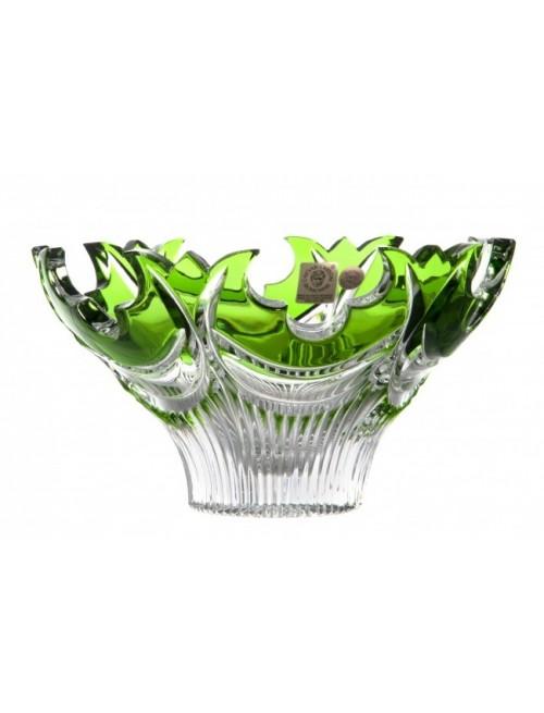 Vaso Diadem, cristallo, colore verde, diametro 165 mm