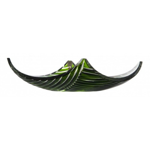 Insalatiera Linum, cristallo, colore verde, diametro 350 mm