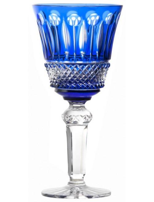 Bicchiere Tomy, cristallo, colore blu, volume 240 ml