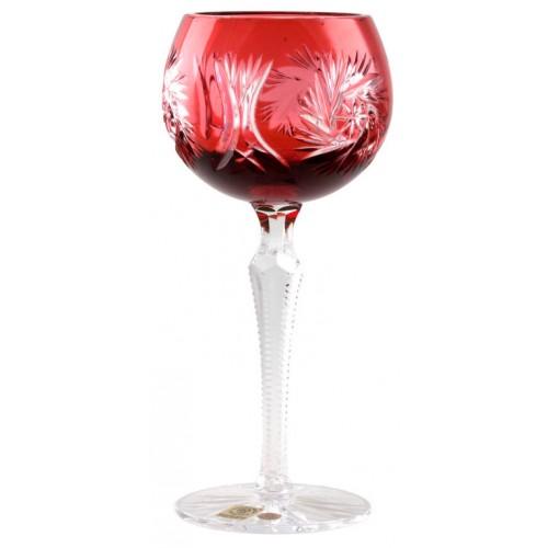 Bicchiere Pinwheel, cristallo, colore rosso, volume 190 ml