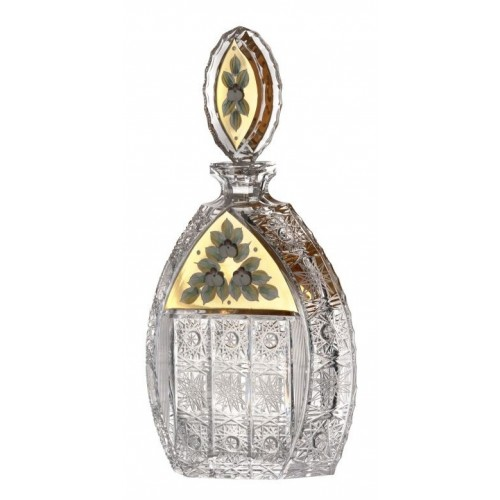 Bottiglia 500PK, cristallo trasparente dipinto oro, volume 600 ml