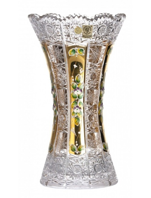 Vaso 500PK II, cristallo trasparente dipinto oro, altezza 05 mm