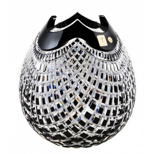 Vaso Quadrus, cristallo, colore nero, altezza 280 mm