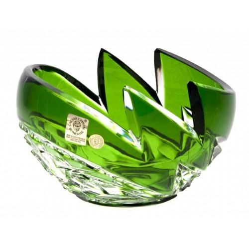 Ciotola Neptune, cristallo, colore verde, diametro 140 mm
