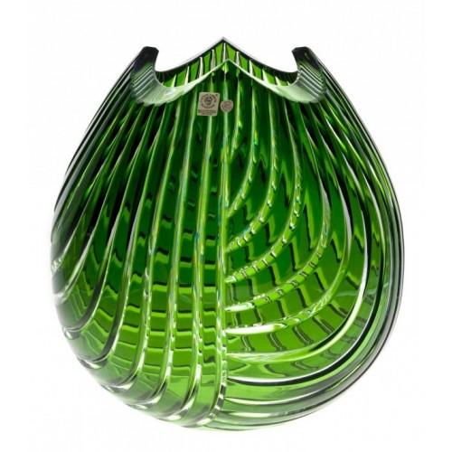 Vaso Linum, cristallo, colore verde, altezza 280 mm
