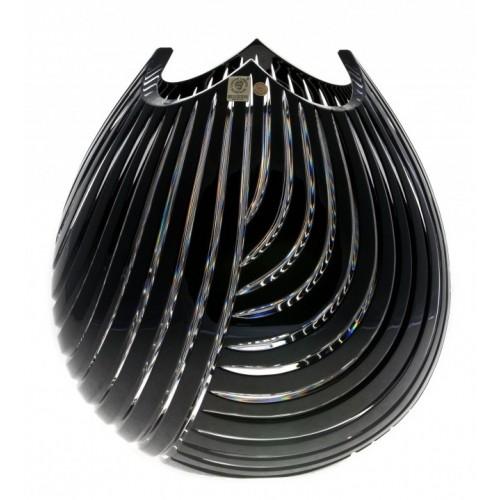 Vaso Linum, cristallo, colore nero, altezza 280 mm