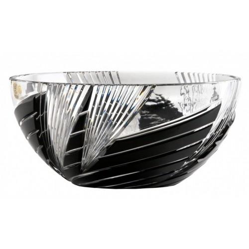 Insalatiera Whirl, cristallo, colore nero, diametro 250 mm