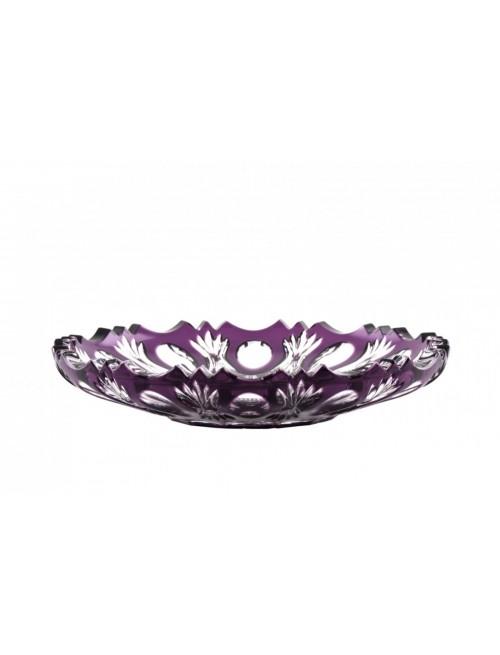 Piatto Dandelion, cristallo, colore viola, diametro 180 mm
