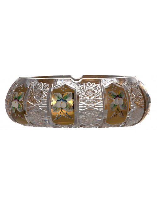 Portacenere 500PK, cristallo trasparente dipinto oro, diametro 180 mm