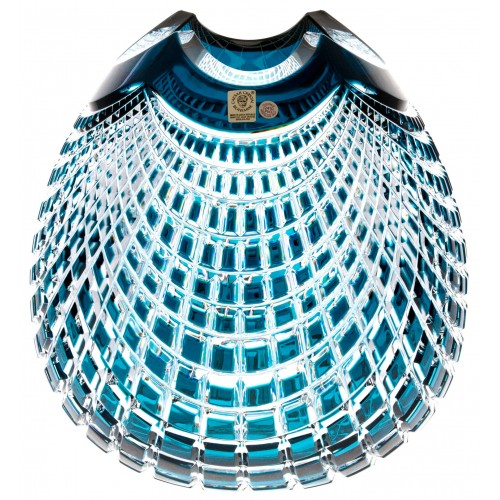 Vaso Quadrus, cristallo, colore azzurro, altezza 280 mm