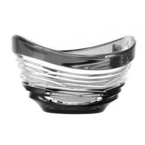 Ciotola Poem, cristallo, colore nero, diametro 95 mm