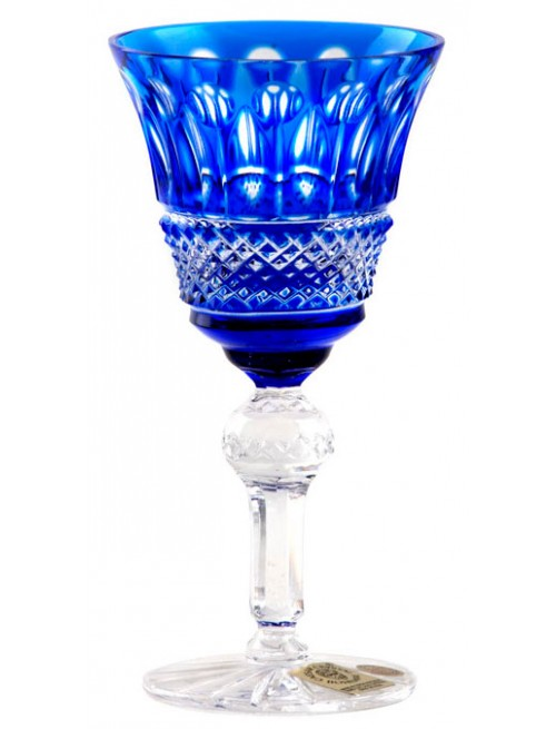 Bicchiere Tomy, cristallo, colore blu, volume 50 ml