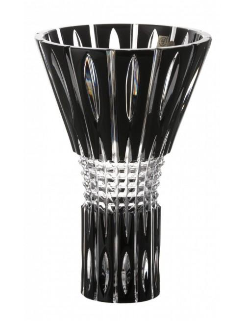 Vaso Denver, cristallo, colore nero, altezza 300 mm