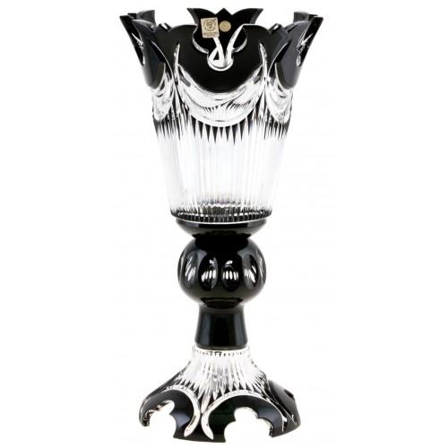Vaso Diadem, cristallo, colore nero, altezza 355 mm