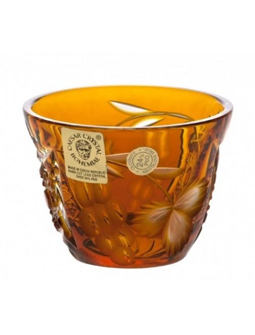 Bicchierino Nacht vine, cristallo, colore ambra, volume 65 ml