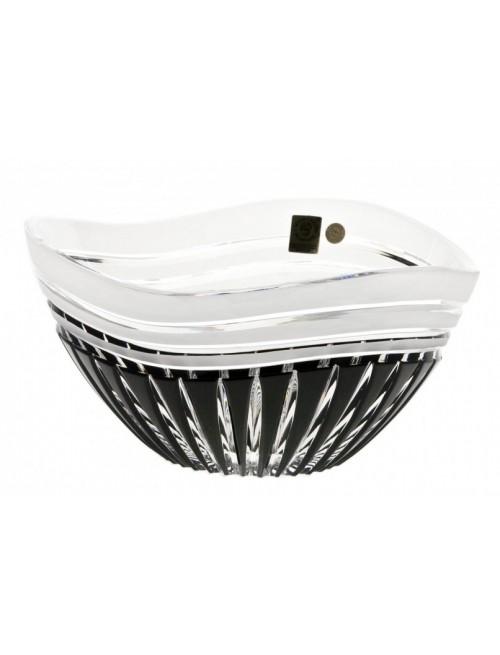 Insalatiera Dune, cristallo, colore nero, diametro 210 mm