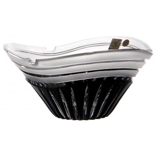 Portacenere Dune, cristallo, colore nero, diametro 180 mm
