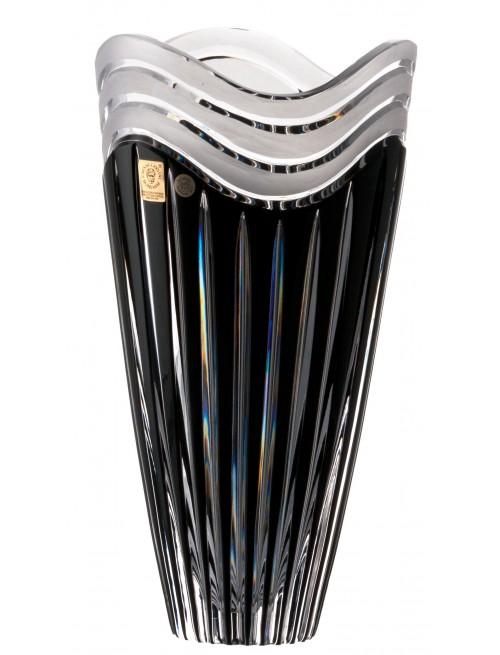 Vaso Dune, cristallo, colore nero, altezza 270 mm