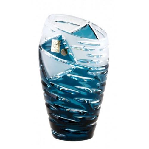 Vaso Mirage, cristallo, colore azzurro, altezza 180 mm